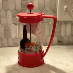 Bodum French press coffee maker NWT red
